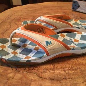 Merrell Bahia Flip Flops Size 7 Waterproof